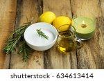 natural homemade skincare... | Shutterstock . vector #634613414