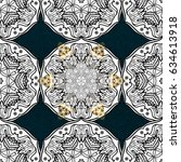 patina. pattern on blue... | Shutterstock .eps vector #634613918