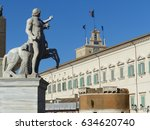 one of the two statues of the... | Shutterstock . vector #634620740