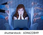worried young woman having... | Shutterstock . vector #634622849