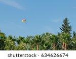 Parachuting Over A Sea  Towing...
