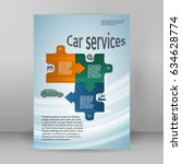 auto service and car wash... | Shutterstock .eps vector #634628774