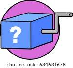 surprise box toy | Shutterstock .eps vector #634631678
