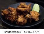 japanese fried chicken with... | Shutterstock . vector #634634774