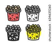 popcorn icon | Shutterstock .eps vector #634635260