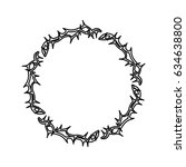 crown of thorns icon | Shutterstock .eps vector #634638800