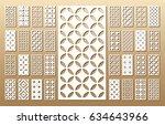 33 vector panels. cutout... | Shutterstock .eps vector #634643966
