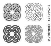 vector celtic knot. ethnic... | Shutterstock .eps vector #634644248