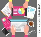 business meeting. teamwork.... | Shutterstock .eps vector #634645460