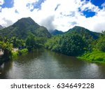 tahiti  tahiti iti  teahupoo ... | Shutterstock . vector #634649228