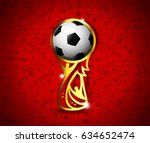 eps 10 vector russia football... | Shutterstock .eps vector #634652474