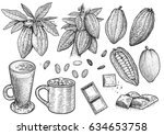 cocoa illustration  drawing ... | Shutterstock .eps vector #634653758