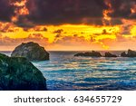 Sunset Over Face Rock Beach In...