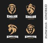 lion logo set   vector...   Shutterstock .eps vector #634658633