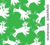 deer seamless pattern hand... | Shutterstock .eps vector #634659650