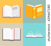 open book vector icons in a...