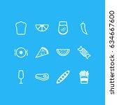 vector illustration of 12... | Shutterstock .eps vector #634667600