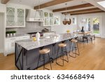 beautiful kitchen in new luxury ... | Shutterstock . vector #634668494
