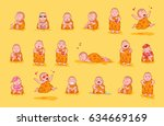 set kit collection sticker... | Shutterstock .eps vector #634669169