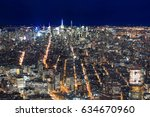 nyc skyline by night | Shutterstock . vector #634670960