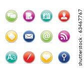 blogging icon set 4 colored... | Shutterstock .eps vector #63467767
