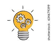 bulb light design | Shutterstock .eps vector #634679399