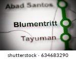 Blumentritt Station. Manila Metro map.