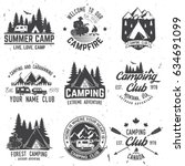 camper and caravaning club.... | Shutterstock .eps vector #634691099