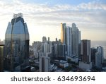 panama city  panama skyline in... | Shutterstock . vector #634693694