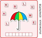worksheet for preschool kids ...   Shutterstock .eps vector #634696958