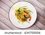 Shrimp With Zucchini Noodles....