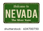welcome to nevada vintage rusty ... | Shutterstock .eps vector #634700750