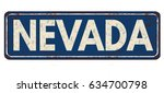nevada vintage rusty metal sign ... | Shutterstock .eps vector #634700798