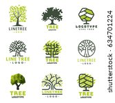 tree vector logotype oak... | Shutterstock .eps vector #634701224