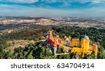aerial panorama of colorful... | Shutterstock . vector #634704914