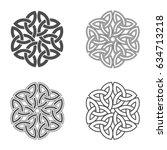 vector celtic knot. ethnic... | Shutterstock .eps vector #634713218