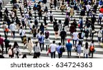 asian people are across the...   Shutterstock . vector #634724363