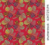 vintage style. tropical flowers ... | Shutterstock . vector #634725194
