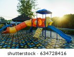 children playground  activities ...   Shutterstock . vector #634728416