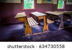 old fashion school desk | Shutterstock . vector #634730558