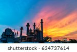 Oil Refinery Industry At Sunse...