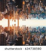 aerial view of the new york... | Shutterstock . vector #634738580