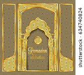 ramadan kareem greeting card... | Shutterstock .eps vector #634740824