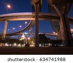 bhumibol suspension bridge in... | Shutterstock . vector #634741988