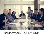 business discussion meeting... | Shutterstock . vector #634744334