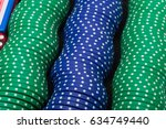 pokers chips in a row   Shutterstock . vector #634749440