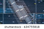 aerial view gate for expressway ... | Shutterstock . vector #634755818