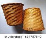 Two Wicker Baskets Background