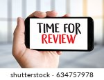 review time business concept  ... | Shutterstock . vector #634757978