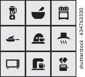 set of 9 editable food icons....